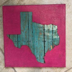 Handmade Texas art canvas